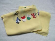 Scarf Vintage Retro MENS 1960s FLAGS AND COATS OF ARMS OF CANTONS OF SWITZERLAND