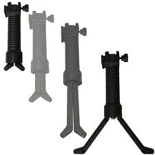Tactical Picatinny Retractable Foregrip Bipod w/Reinforced Legs BLACK
