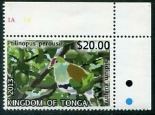 TONGA  1213  Beautiful  Mint  NEVER  Hinged CORNER  $20  Top Value  BIRD  AG