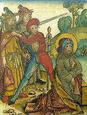 BLATT SCHEDEL WELTCHRONIK HEILIGEN MARTYRIUM PETRUS PAULUS JAKOB EVANGELIST 1493