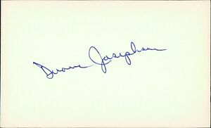 Duane Josephson Chicago White Sox Signed 3x5 Card Debut 1965 D 1997
