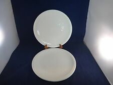 """Set of 4 Syracuse China Shelledge 11"""" Chop Plates White Embossed Floral Flowers"""