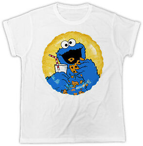FUNNY COOKIE MONSTER MUPPETS ANIMAL BIRTHDAY PRESENT SHORT SLEEVE T SHIRT