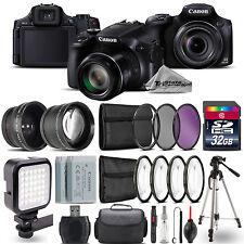 Canon PowerShot SX60 HS Camera + Wide Angle & Telephoto Lens + LED - 32GB Kit