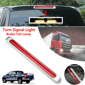12V LED Car Truck Trailer Turn Signal Brake Tail Lamp Flowing Red Yellow Light