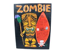 The Zombie Drink Zombie Painting Signed w/ Instructions for Potion