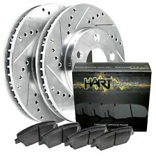 Fits 2001-2002 Dodge Stratus Front Drill Slot Brake Rotors+Ceramic Pads