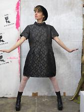 Kleid schwarz silber Damenkleid Glitter Silvester 60er TRUEVINTAGE twiggy dress