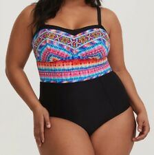 efa118bbf4854 Torrid Multicolor Wireless One-piece Swimsuit 0x Large 12  37523