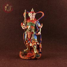 Protector Wei Tuo Sangharama Bodhisattva Buddha Statue Chinese Ancient Resin