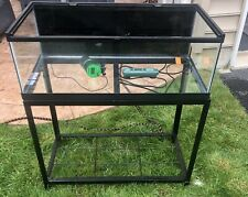 """40 Gallon Zilla Breeder Fish Or Reptile Tank With Lid And Iron Stand """"Bundle�"""