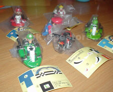 Yujin Super Mario kart WII NDS Gashapon Full Set 5 pcs Pull Back Racers