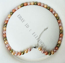 "shell pearl necklace 18"" 011 8mm Aaa Multicolor south sea"