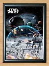 Empire Strikes Back Movie Poster Hoth Battle A4 Print Star Wars Episode V 5 dvd