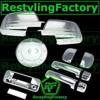 07-13 TUNDRA DOUBLE CAB Mirror+Chrome 4 Door Handle+Tailgate Camera+Gas Cover
