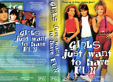 GIRLS JUST WANT TO HAVE FUN - VHS - NEW - Never played - Original Oz release