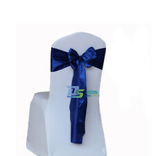 """108"""" Satin Chair Cover Sash Ribbon Bow Decoration for Wedding Party Banquet New"""