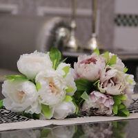 Artificial Hydrangea Silk Fake Peony  Flower Bridal Home Wedding Garden Decor ZN