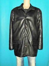 manteau CHEVIGNON en cuir noir doublé coton et vortex taille XXXL