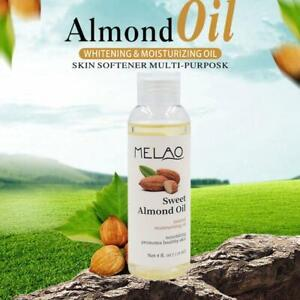 118ml Sweet Almond Oil Pure Organic Carrier For Skin Face Hair Massage