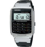 Casio Databank Men's Quartz Calculator Black Resin Band 35Mm Watch Ca56-1