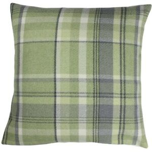 Sage Elgin Checked Cushion Cover