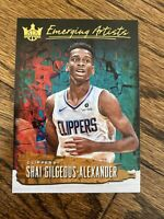shai gilgeous Alexander emerging Artists Court Kings Rookie