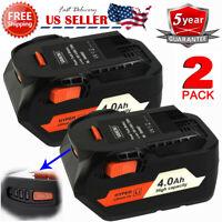 2X For Ridgid AC840087 AC840089 18Volt 4.0Ah High Capacity HYPER Lithium Battery