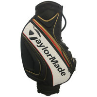 NEW TAYLORMADE TOUR STAFF BAG IN BLACK/GOLD/RED