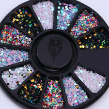 Nail Rhinestone Crafts Charms Flatback Mixed Color 3D Nail Art Decoration Wheel