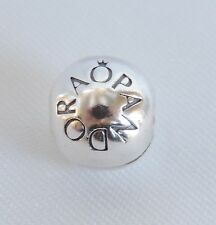 Authentic Pandora Silver Loving Pandora Logo Clip Stopper Charm Bead 791015
