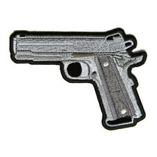 Embroidered 9 mm Gun Sew or Iron on Patch Biker Patch