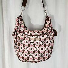 Bumble Collection Chloe Convertible Diaper Bag Chocolate Brown Pink
