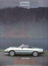 Alfa Romeo Spider 2000 Green Cloverleaf Road Test 1987 UK Market Brochure
