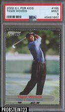 2002 Sports Illustrated For Kids Golf #185 Tiger Woods PSA 9 MINT