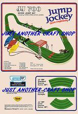 Scalextric JUMP JOCKEY VINTAGE jj700 Set a3 dimensioni Poster Pubblicità opuscolo sign