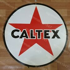 CALTEX STAR PORCELAIN ENAMEL SIGN 30 INCHES ROUND