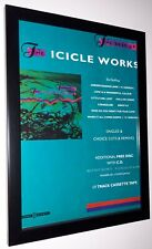 Icicle Works - The Best Of - framed original promo poster