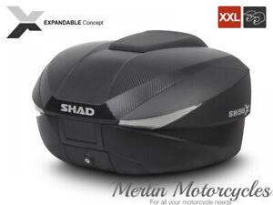 SHAD SH58X CARBON EXPANDABLE TOP BOX CASE CARRIER RIGID LUGGAGE D0B58206