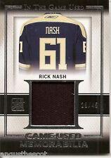Rick Nash 2016 Leaf In The Game -  memorabilia #'d 28 of 45