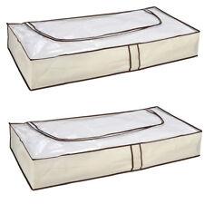 2 Stück Unterbett Aufbewahrung Unterbettkommode Kommode mit Reißverschluss