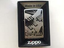 Zippo Genuine Refillable Cigarette Lighter, Rock n Roll #12 New With Box