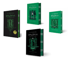 NEW Harry Potter Slytherin Editions 4 Hardcover Books Set - Philosopher, Chamber