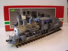 LGB #2019S 2-6-0  MOGUL STEAM LOCOMOTIVE, G SCALE, CUSTOMIZED & WEATHERED, OB