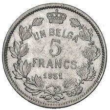 BELGIO 5 Francs 1931