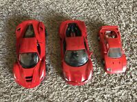 Maisto 1:18 Scale Die-Cast LaFerrari 488 GTB & Burago F40 1:24 Ferrari Lot Of 3