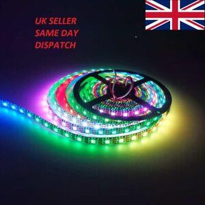 WS2812B 5050 LED RGB Fully Addressable strip 5M 150 300 LEDs Neopixel 5v UK