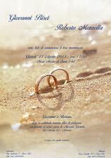 PARTECIPAZIONI NOZZE inviti matrimonio Sabbia - Mare