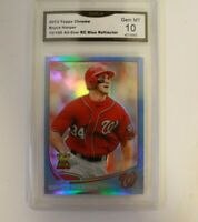 2013 Topps Chrome Bryce Harper Watching Ball Blue 10/199 GMA 10 #220