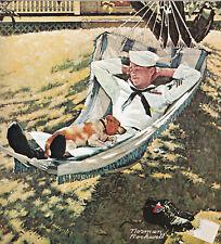 New ListingOn Leave Navy Norman Rockwell 8x10 Poster Fine Art Print
